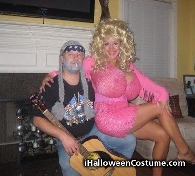 Couples Halloween Costumes - My Mom dressed as Dolly once. Hers was better but this is still good!
