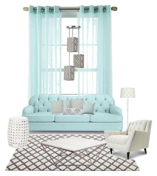 """Lounge idea"" by taniamin on Polyvore featuring interior, interiors, interior design, home, home decor, interior decorating, Martha Stewart, Kate Spade, Eichholtz and Bandhini Homewear Design"
