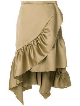jupe volantée asymétrique