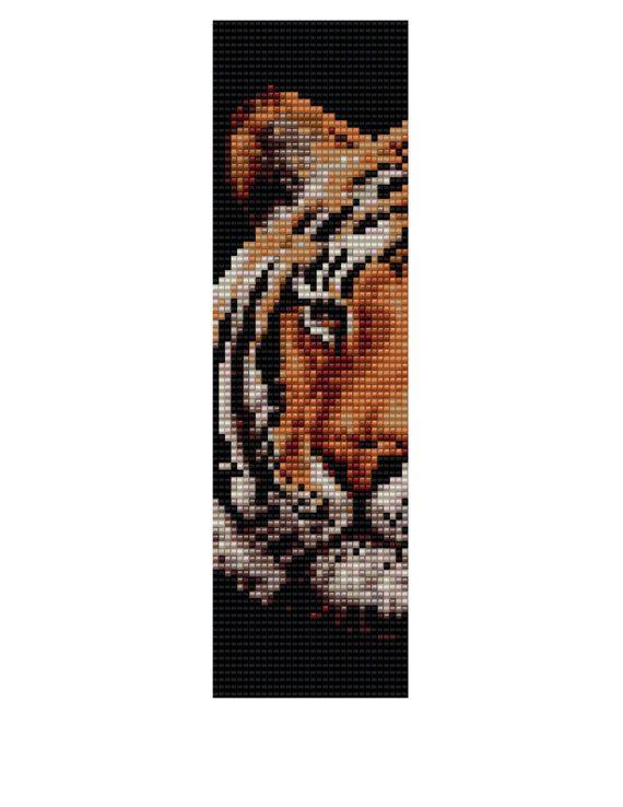 Loom Bracelet Pattern  Tigress Buy 2 Patterns  get a by KFSDesigns, $6.50