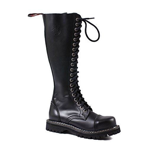 Angry Itch - 20-Loch Gothic Punk Army Ranger Leder Armee Stiefel mit RV & Stahlkappe 36-48 - Made in EU!, EU-Größe:42 - http://on-line-kaufen.de/angry-itch/42-eu-angry-itch-20-loch-gothic-punk-army-ranger-mit