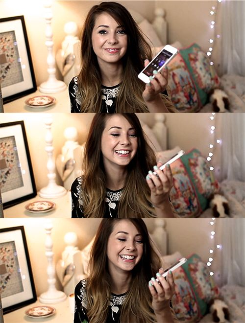 Zoella. She is sooo funny and cute. Come on, just look at her! She's adorable