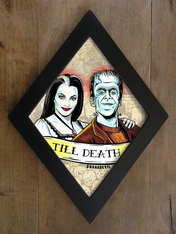Lily Munster and Herman Munster. Till Death by bwanadevilart