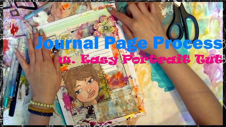 Page Process with Easy Portrait Tut (June Challenge 2014)
