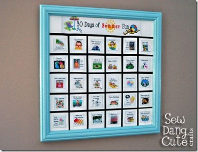 Super cute DIY summer magnetic board with list
