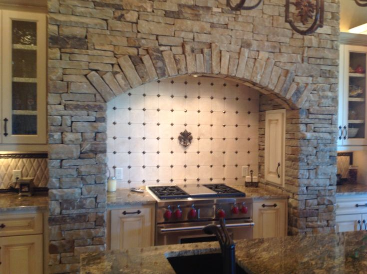 Cooktop Stone Surround Decorating In 2019 Kitchen