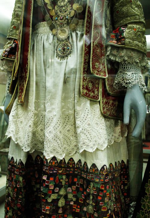 Costumes from the Folk Art Museum Section in Folegandros, Athens.