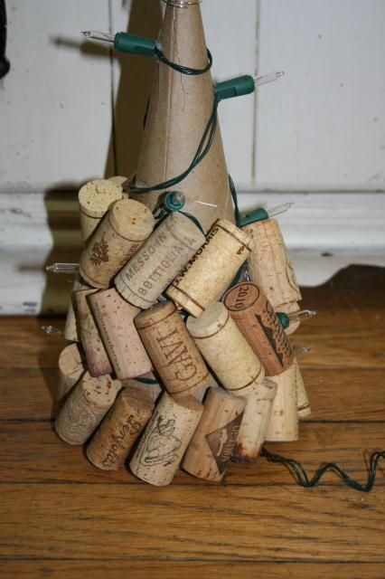 Wine Cork Christmas Decorations | ... lights off and turn your Cork Christmas Tree lights on!! Love it