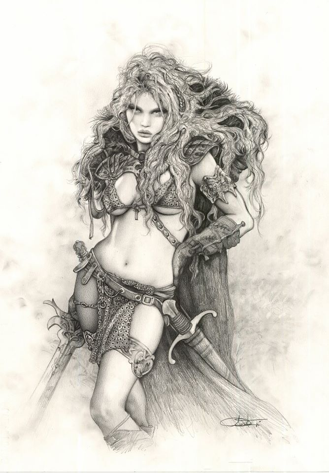 Red Sonja by Arantza Sestayo  Fantasy Myth Mystical Legend Sword Sorcery