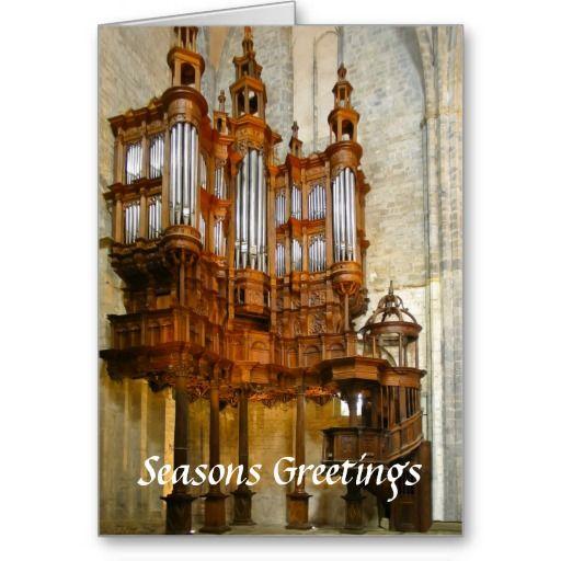 St Bertrand-de-Comminges organ Greeting Cards
