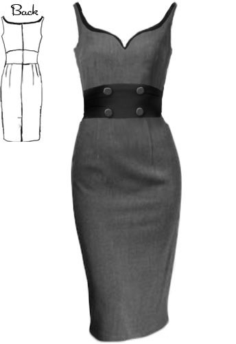 50s  Rockabilly Wiggle Dress by Amber Middaugh --Save 37% at Chicstar.com coupon: AMBER37 #Retro #Vintage #Rockabilly