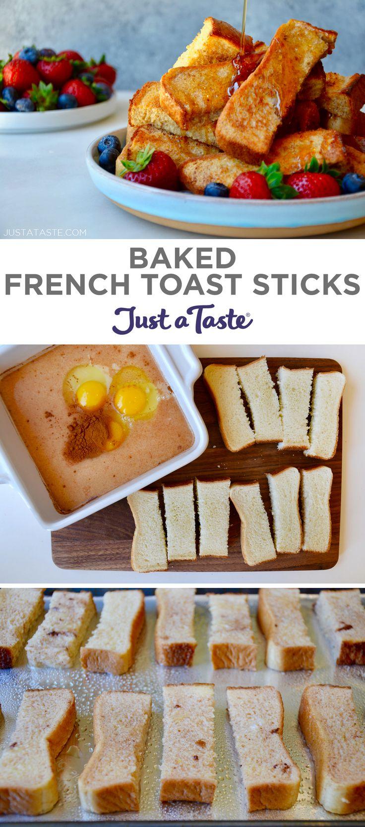 Baked French Toast Sticks (Freezer-Friendly!) recipe from justataste.com #recipes #breakfast #mealprep