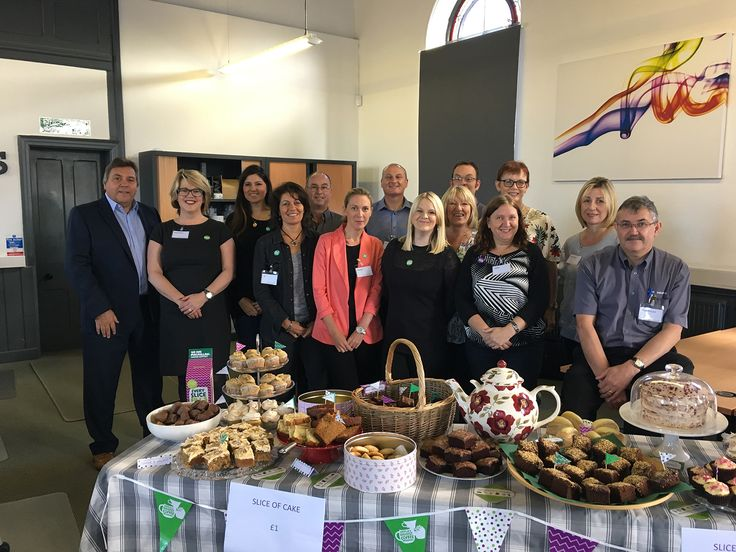 The Weaver & Bomfords team busing fundraising for the Macmillan Cancer Support Chairty