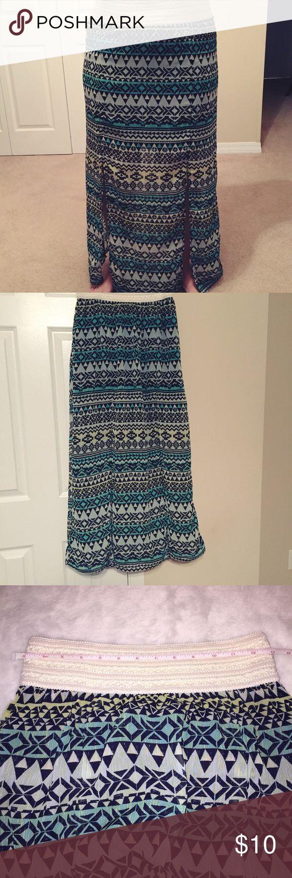 Selling this 🎀 Flowy skirt with slits on the side on Poshmark! My username is: posh_vintage13. #shopmycloset #poshmark #fashion #shopping #style #forsale #No Boundaries #Dresses & Skirts