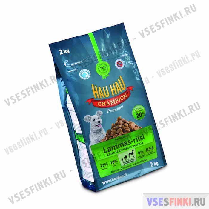 Корм Hau-Hau для всех собак Баранина и рис) 2 кг