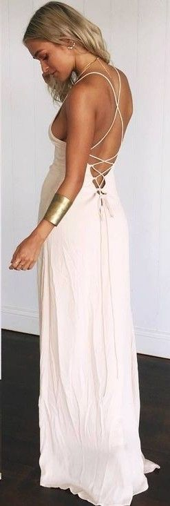 #muraboutique #label #outfitideas |  Nude Maxi Dress