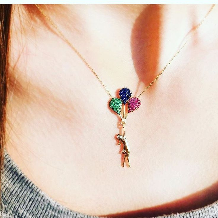 NEW!!! TURKISH HANDMADE STERLING SILVER BALOONS NECKLACE EMERALD RUBY SAPPHIRE  | eBay