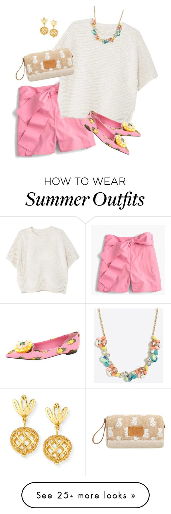 """""""Summer Sweater"""" by curvygirlamy on Polyvore featuring J.Crew, MANGO, Dolce&Gabbana and Lele Sadoughi"""