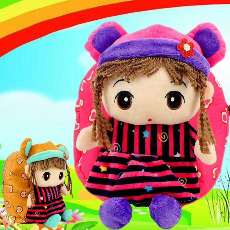 2016 Lovely Cartoon Baby Girls School bags Children's Gifts Kindergarten Backpack Plush Toy Bags Kids Satchel Mochila Infantil  http://playertronics.com/products/2016-lovely-cartoon-baby-girls-school-bags-childrens-gifts-kindergarten-backpack-plush-toy-bags-kids-satchel-mochila-infantil/