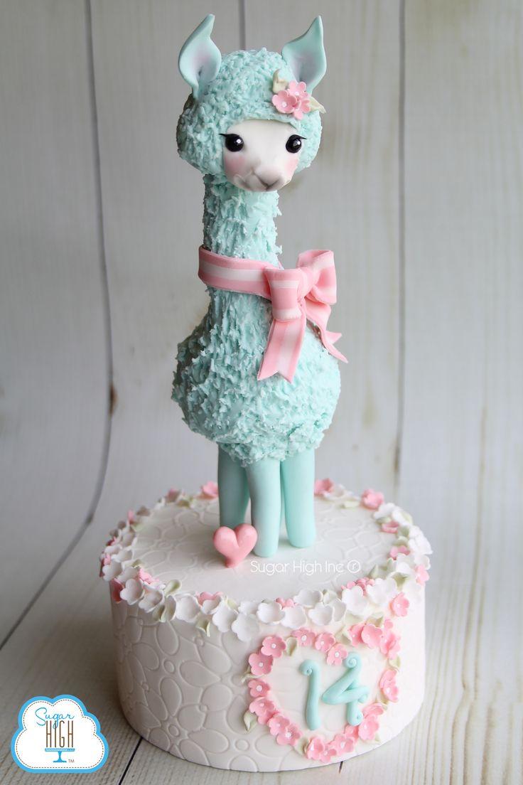 A little llama love!  #llama #fondant #love #sugarhighinc #caketopper