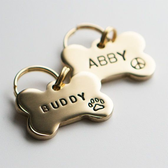 Hey, I found this really awesome Etsy listing at https://www.etsy.com/listing/222796576/dog-tag-pet-id-tag-bone-shaped-tag-brass