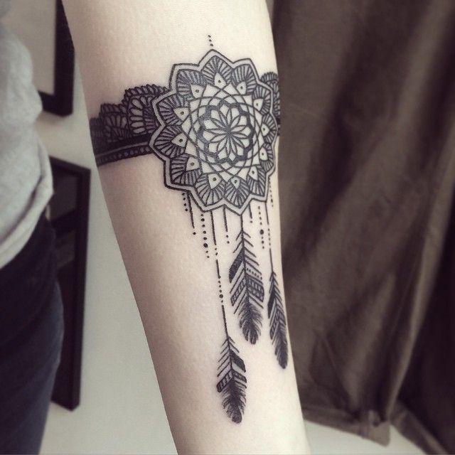 #tattoo done at @lephylactere #mandala #mandalatattoo #dreamcatcher #attrapereve…