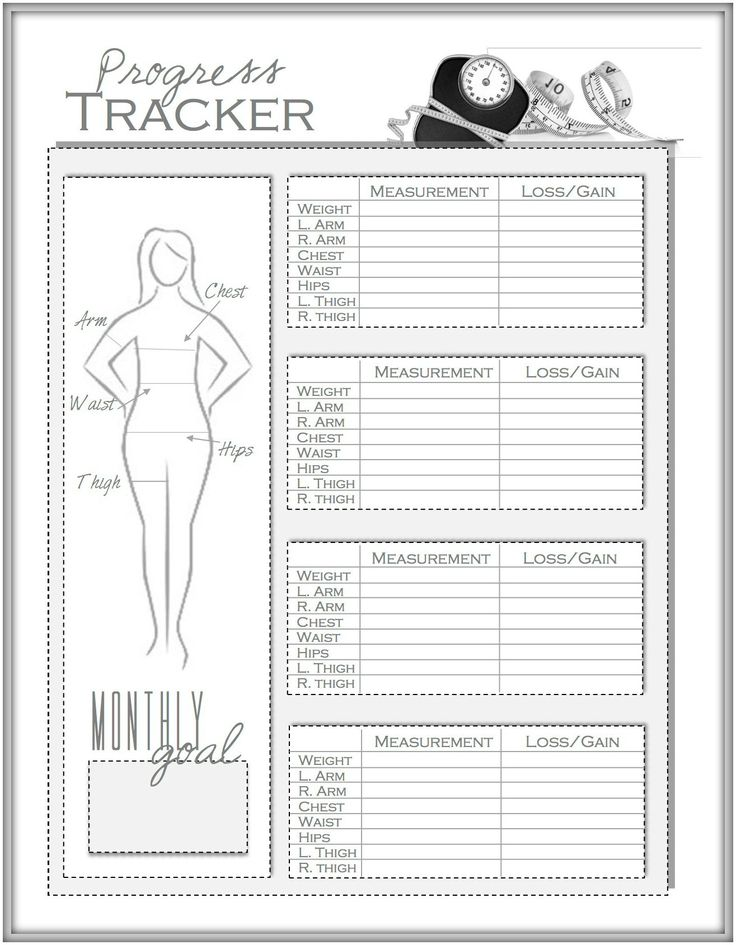 Weight Loss and Measurement Progress Tracker