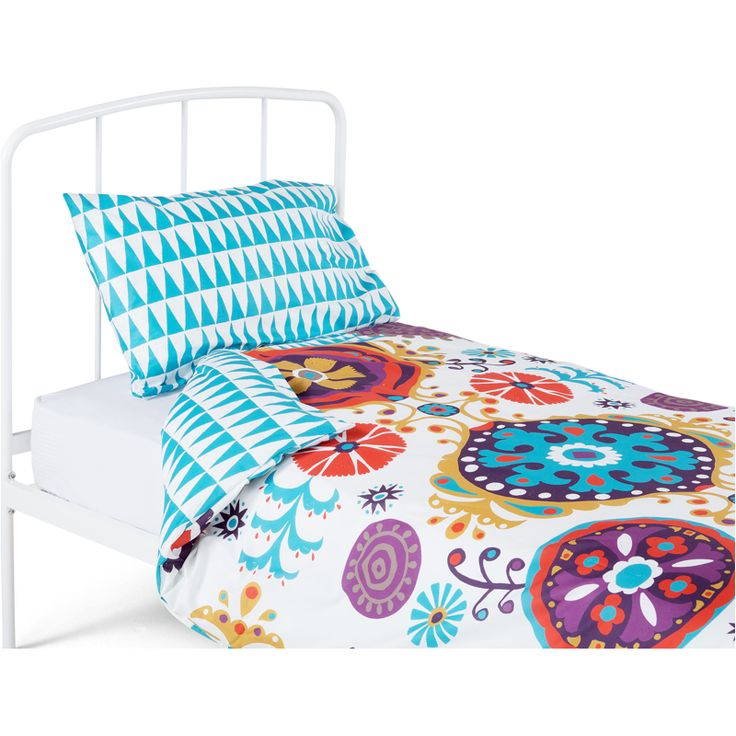 Folk 100% Cotton Single Bed Set, Multicolour from Made.com. Pink. Express delivery. There's never a dull moment when your child is a bright, free sp..