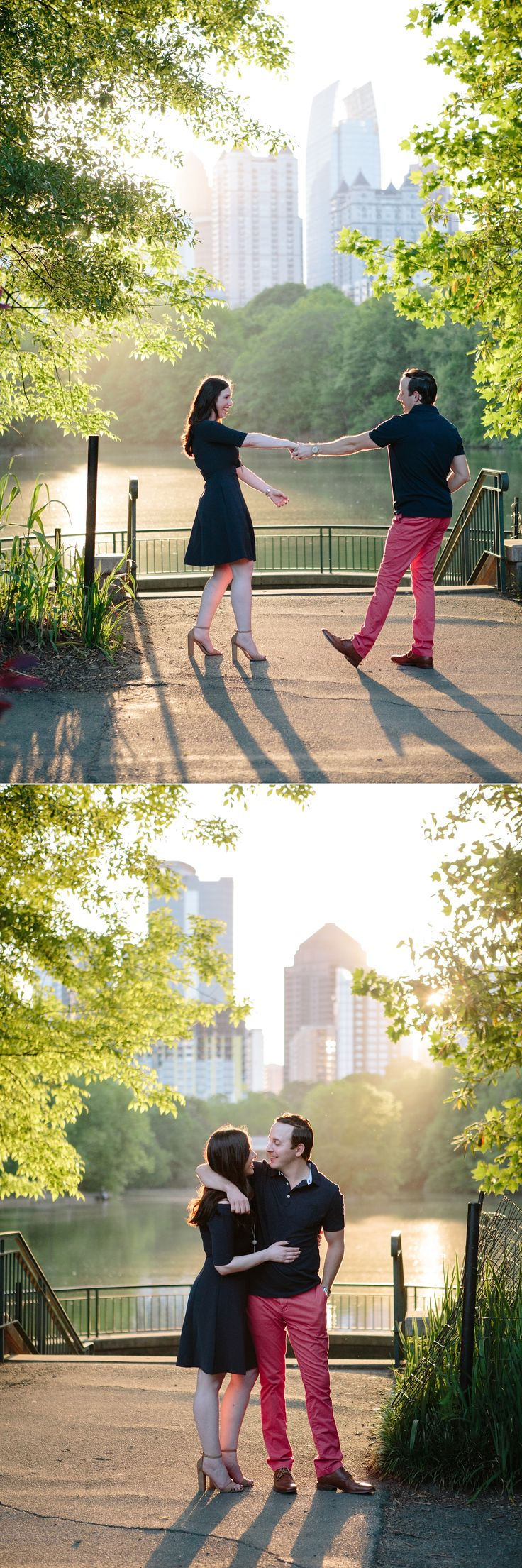 Piedmont Park Engagement Photos by Top Atlanta Photographers Leigh and Becca