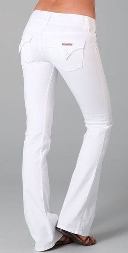 Amazing white Hudson jeans! WANT! <3 not big on white jeans...but I really would lOVE a pair of these!