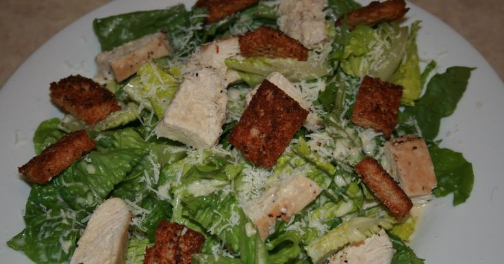 Chicken Caesar salad is usually pretty high in calories (sometimes as many as a double cheeseburger), so I was pleased to find this more hea...