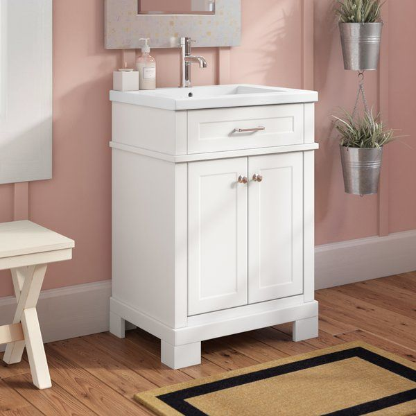 Dutcher 24 Single Sink Bathroom Vanity Single Sink Bathroom