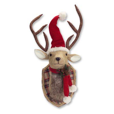 Melrose Mounted Deer Head with Santa Hat and Scarf - 64842