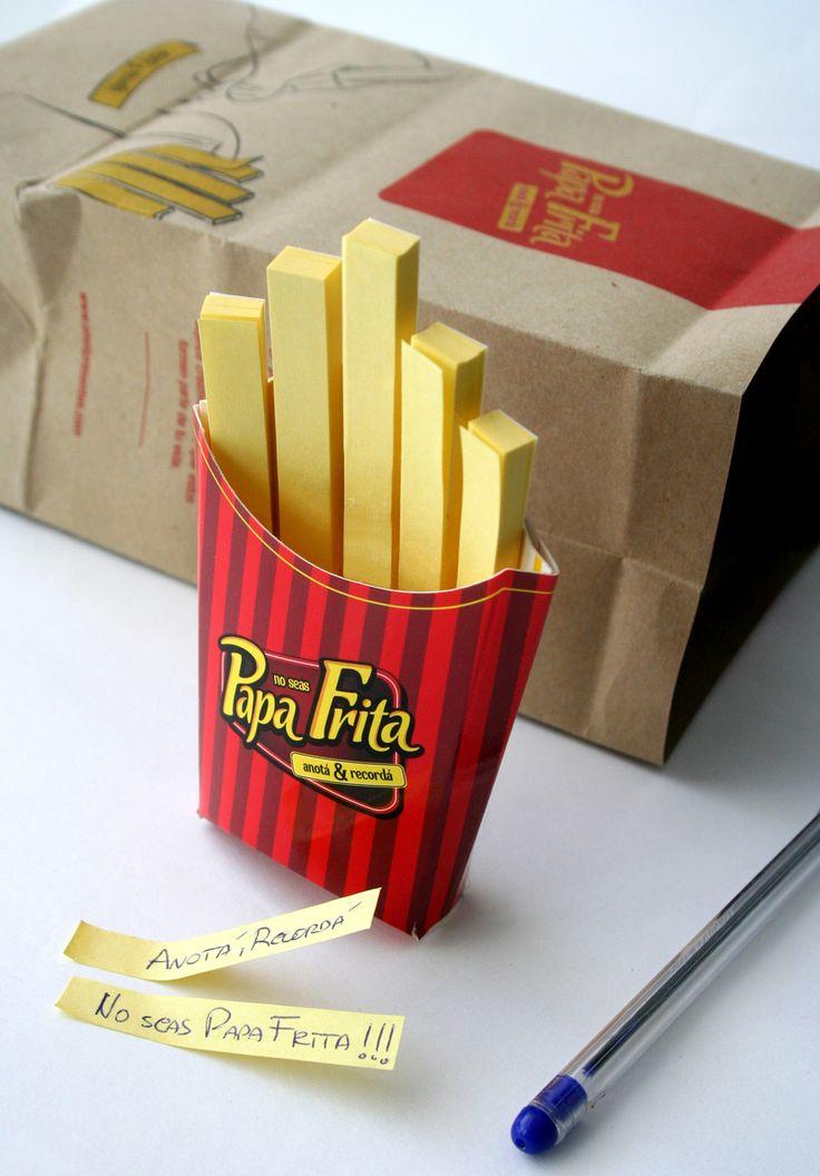 Anotador Papa Frita.  Anotá y recordá; no seas papa frita!