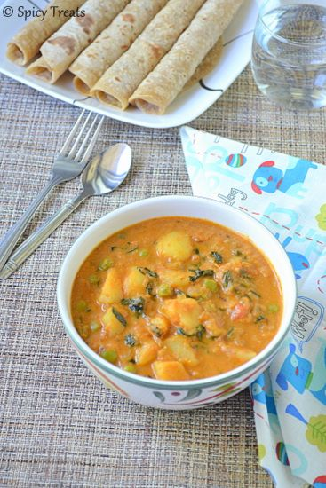 Spicy Treats: Aloo Methi Mutter Curry / Potato Peas Methi Curry