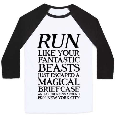 Run Like Your Fantastic Beasts Just Escaped - Show off your love of that magical spin-off movie with this wizarding world, magic believer's, workout humor, Muggle world shirt! Let the world know you are down for cardio when it involves rescuing your adorable magical creatures!
