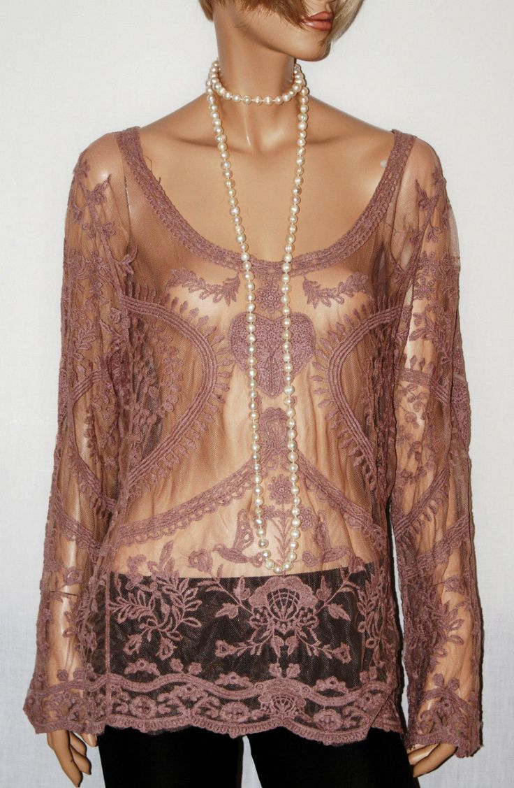 Amazing Pink Cover Up Tulle Laces Summer Tunic Gipsy  T-Shirt Tunica Copricostume Donna Pizzo Tulle Rosa Naturale Hippie Boho-Taglia S/M di BeHappieWorld su Etsy