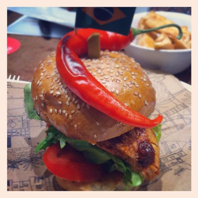 A Brazilian hamburger