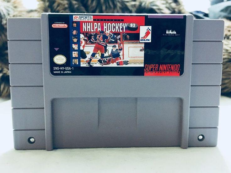 Vintage 1991 NHLPA Hockey Nintendo SNES, Nintendo Games, Vintage Toys, Antique Alchemy