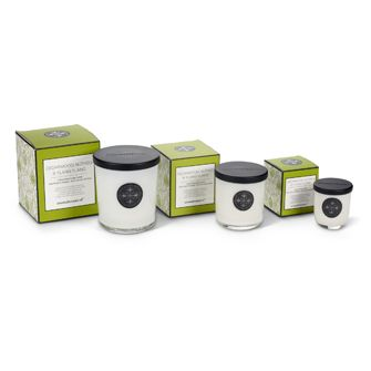 Cedarwood, Nutmeg, & Ylang Ylang Aromabotanicals scented candles, in three sizes