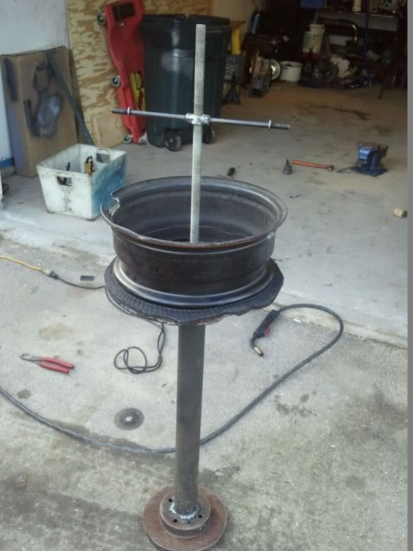 Motorcycle Tire Changer By Punkracer Homemade Constructed From A Surplus 14