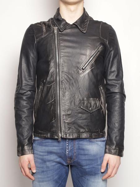 WLG by GIORGIO BRATO Giacca in pelle vintage WU17S18294ASPO Nero Vintage Jacket - TRYMEShop