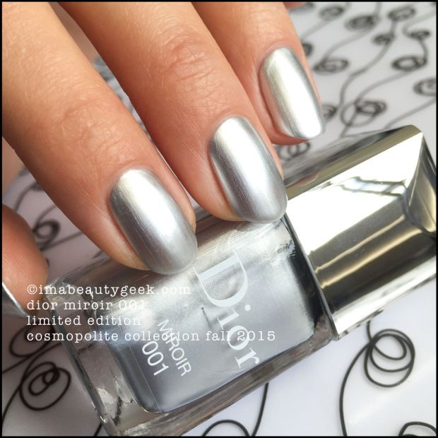 Dior vernis miroir 001 limited edition 2015 swatches and for Vernis a ongle miroir