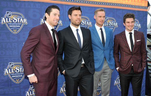 Pekka Rinne Photos Photos - (L-R) James Neal #18 Shea Weber #6, Pekka Rinne #35 and Roman Josi #59 of the Nashville Predators arrive for the 2016 NHL All-Star Game Festivities at Bridgestone Arena on January 30, 2016 in Nashville, Tennessee. - 2016 NHL All-Star Game Festivities