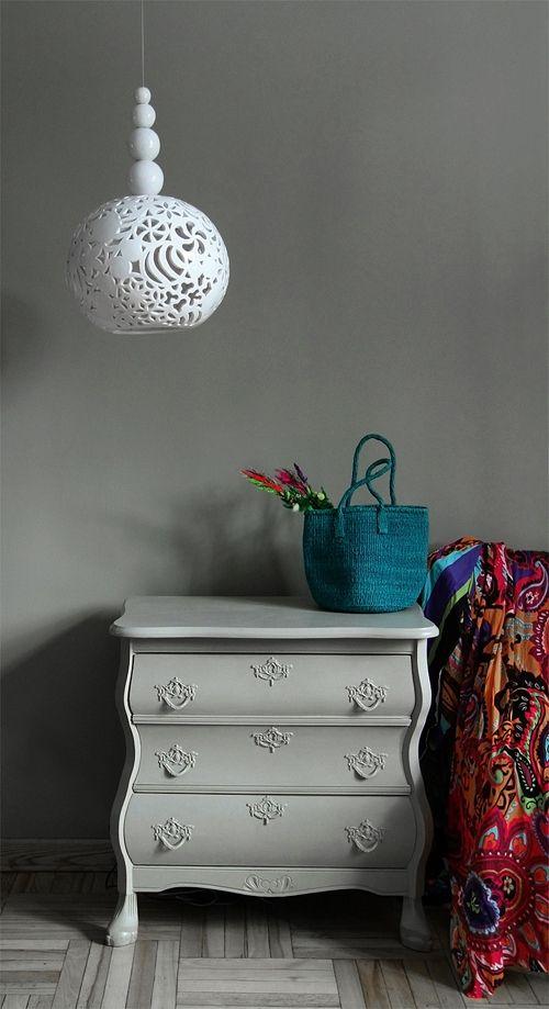 "ceramic lamp "" white dream "" design by joanna bylicka"