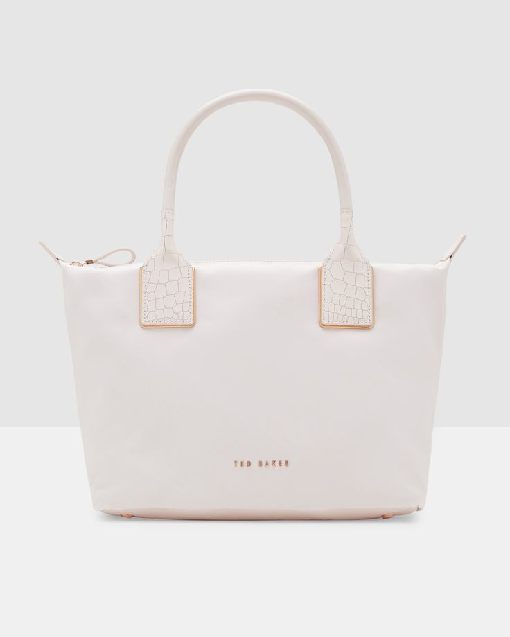 Embossed trim small nylon tote bag - Baby Pink | Bags | Other Europe Site