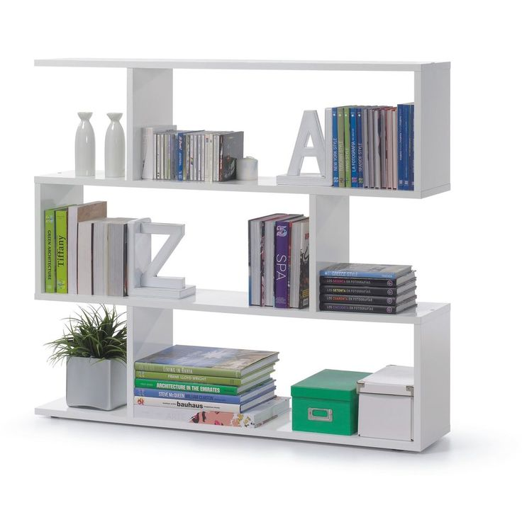 Ciara 3 Tier Bookcase Room Divider Display Shelf Unit White Gloss Also in Larger   eBay
