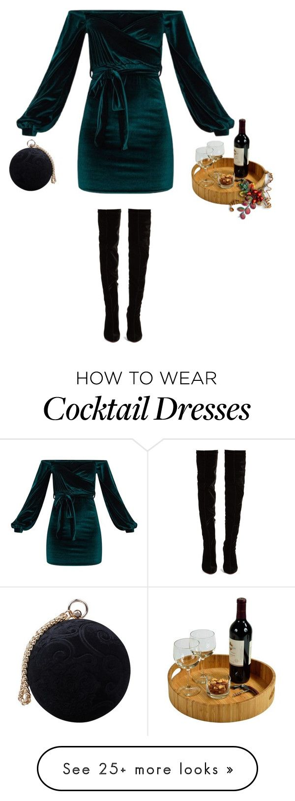 """""""holiday party"""" by mimas-style on Polyvore featuring Christian Louboutin, Carvela and Picnic at Ascot"""