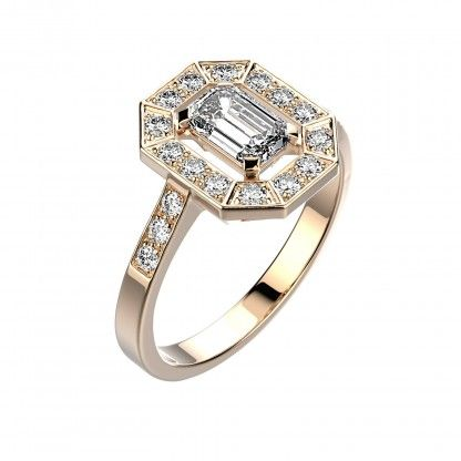 Photo : Bague Gatsby - Or rose 18 cts, Diamants 1