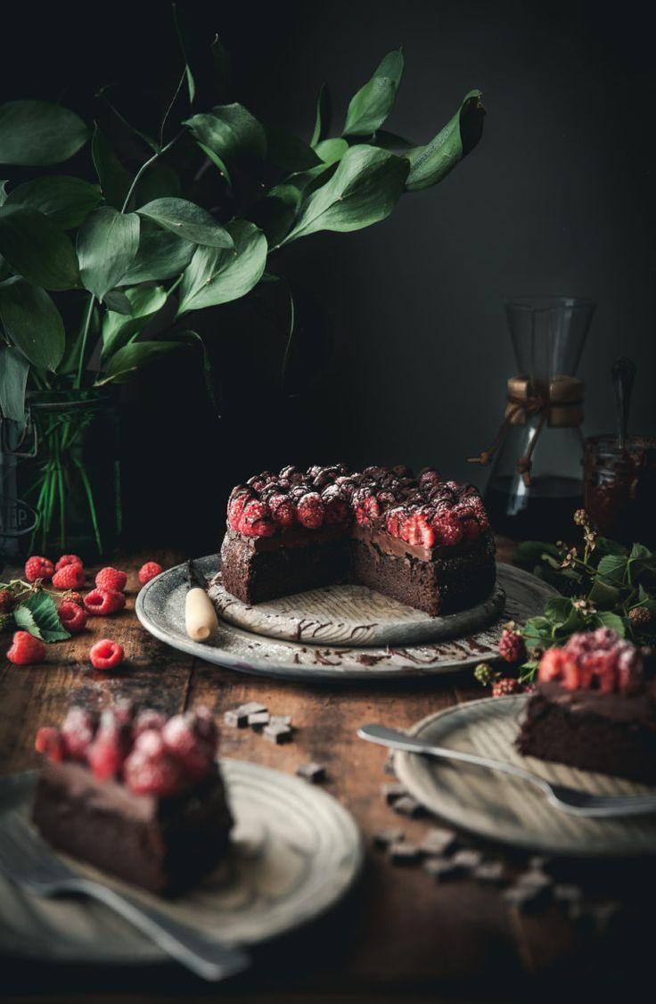 Gâteau au chocolat et aux framboises sans grain   – la dolce vita